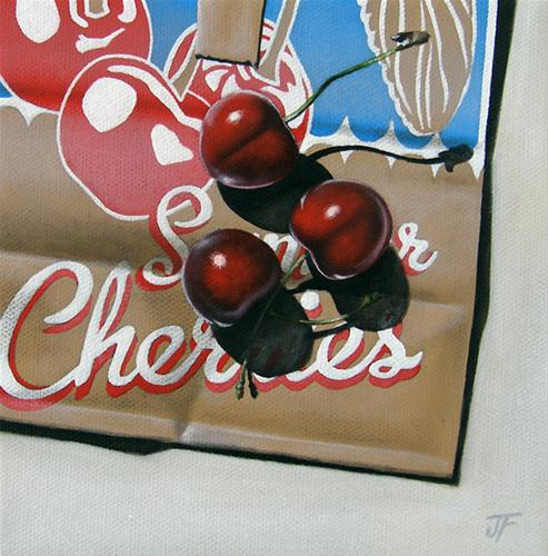 """Study: Summer Cherries"" original fine art by Jelaine Faunce"