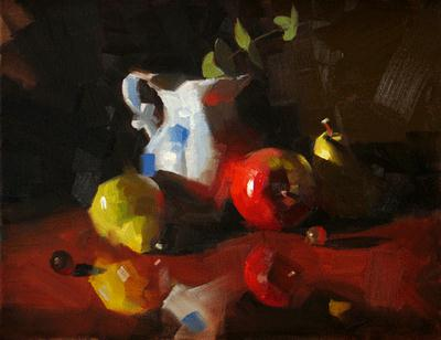 """On a Glossy Surface"" original fine art by Qiang Huang"