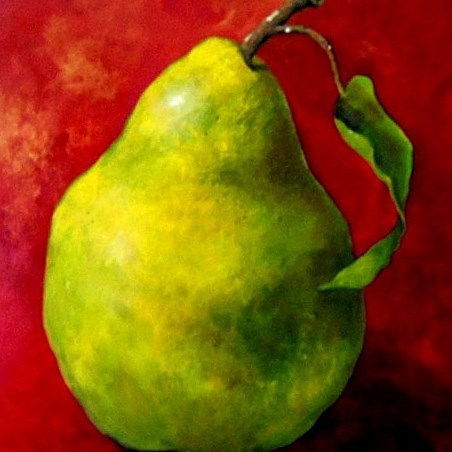 """Pear"" original fine art by Laurie Mueller"