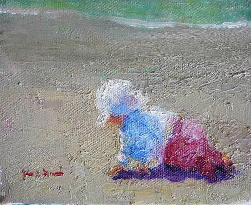 """Sea Pea at Moonstone Beach"" original fine art by Jane Morac'E"