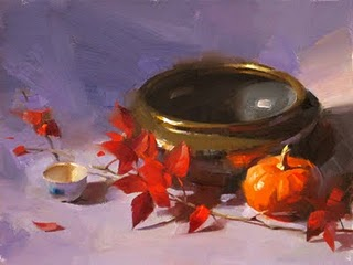 """Autumn Colors --- Sold"" original fine art by Qiang Huang"
