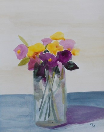 """tender blooms II"" original fine art by Pamela Munger"