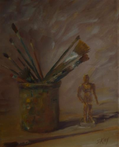 """""""Tools of the Trade"""" original fine art by Sharon Kay Baker"""