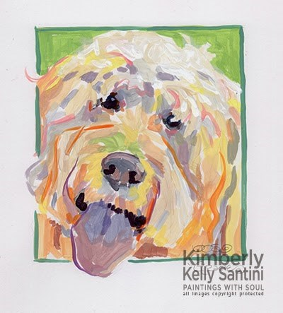 """Gracie"" original fine art by Kimberly Santini"