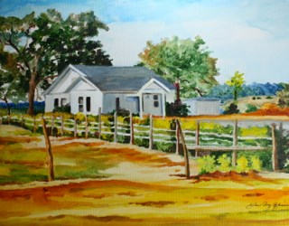 """The last Farm in Texas"" original fine art by JoAnne Perez Robinson"