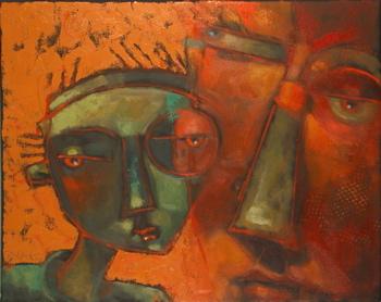 """Little Green Man"" original fine art by Brenda York"