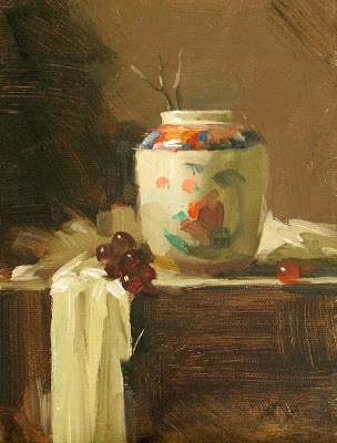 """A Colorful Vase"" original fine art by Qiang Huang"