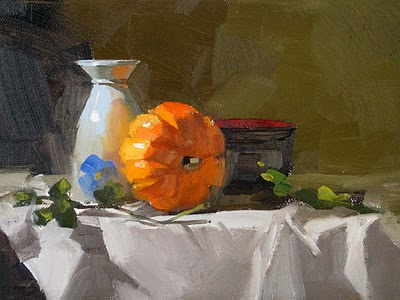 """Autumn Started --- Sold"" original fine art by Qiang Huang"