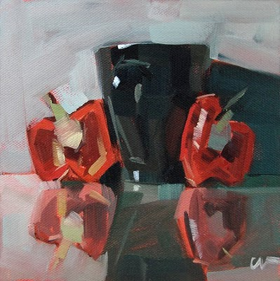 """""""2 Bells and a Cup --- SOLD"""" original fine art by Carol Marine"""