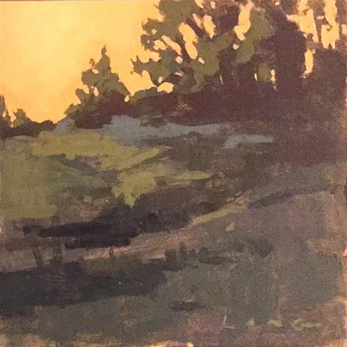 """""""Evening Walk II"""" original fine art by Chris Long"""