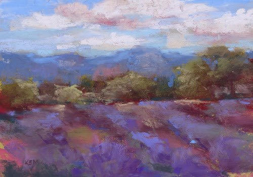 """Dragonflies and Lavender....Our Day in Albuquerque"" original fine art by Karen Margulis"