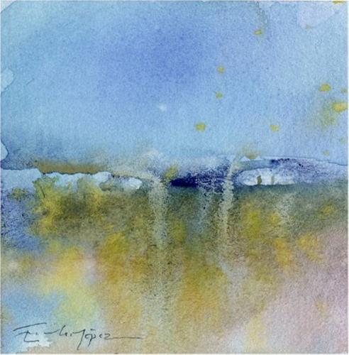 """paisaje 149"" original fine art by Emilio López"