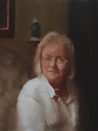 """Commissioned Portrait"" original fine art by Neil Carroll"