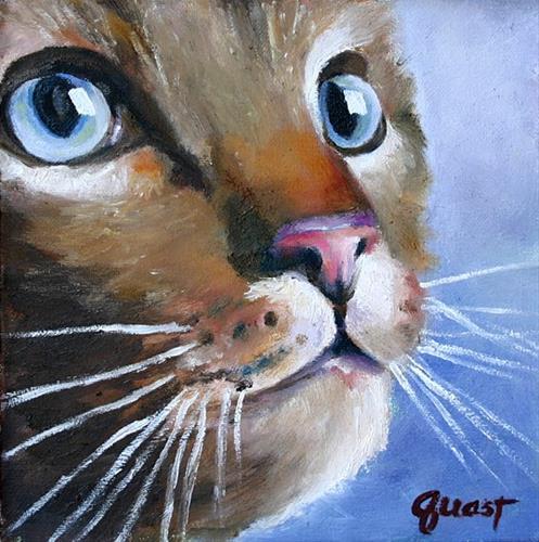 """""""Bright Eyes"""" original fine art by barbara quast"""
