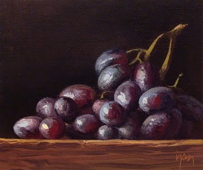 """Grapes in Afternoon Sun"" original fine art by Abbey Ryan"