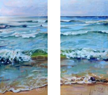 """""""Light Shift, Lake Michigan"""" original fine art by Deb Anderson"""