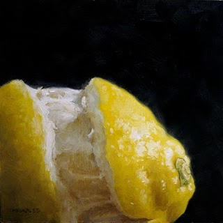 """Partially Peeled"" original fine art by Michael Naples"