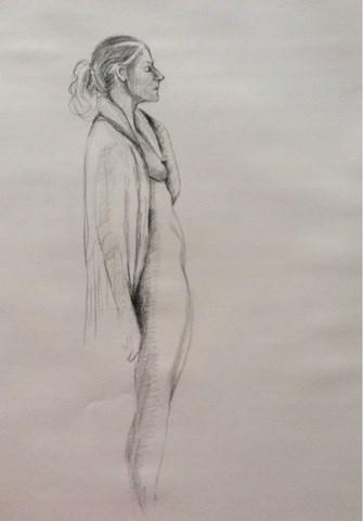 """Pat with fringe"" original fine art by Hilary J. England"