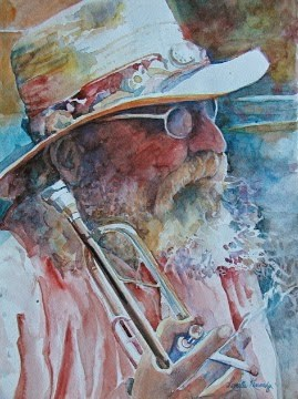"""Old Man Laguna and Horn"" original fine art by Reveille Kennedy"