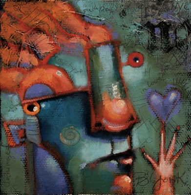"""Batteries Not Included"" original fine art by Brenda York"