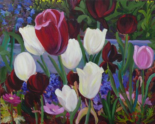 """Tulips 2"" original fine art by Darlene Young"
