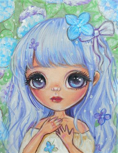 """(stretch bar with small dent) Bluebird"" original fine art by Nicole Chen"