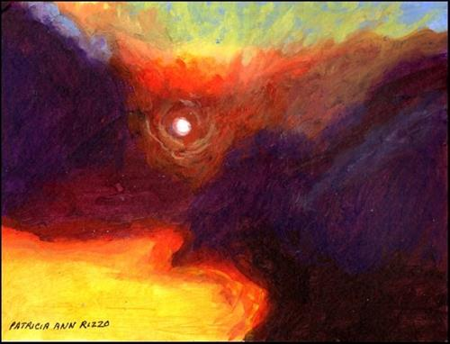 """Blazing Sky"" original fine art by Patricia Ann Rizzo"