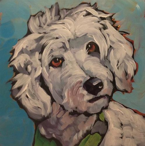 """July 31, The Last Dog"" original fine art by Kat Corrigan"