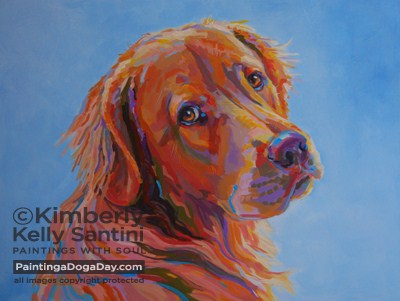 """Lewis, Finished"" original fine art by Kimberly Santini"