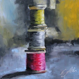 """threadbare"" original fine art by Kim Smith"
