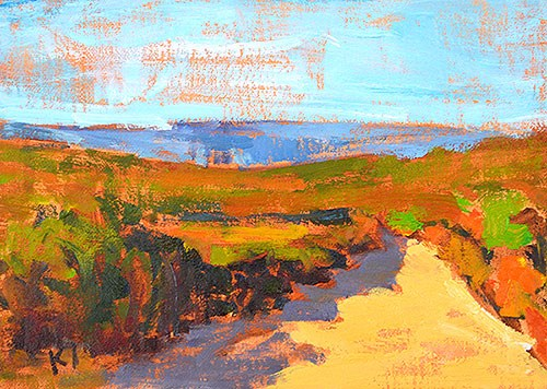"""Laguna Canyon Landscape"" original fine art by Kevin Inman"