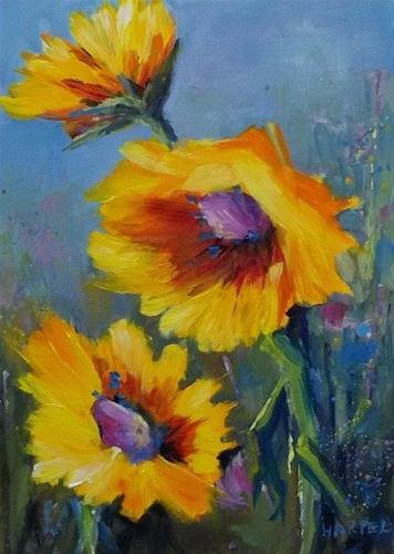 """Sunny"" original fine art by Alice Harpel"