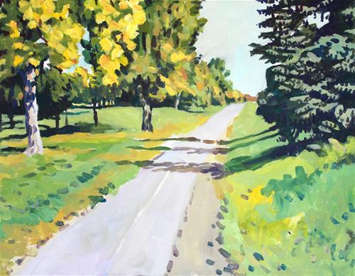 """""""Shadows on a Path"""" original fine art by Elbagir Osman"""
