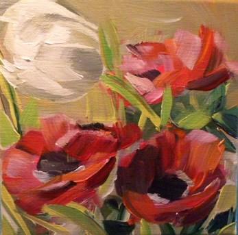 """""""Anemonen mit Tulpen"""" original fine art by Sabine Hüning"""