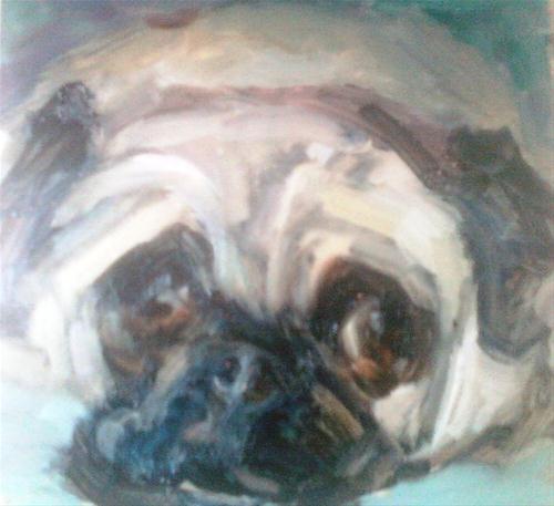 """Yoggie 4"" original fine art by Brande Arno"