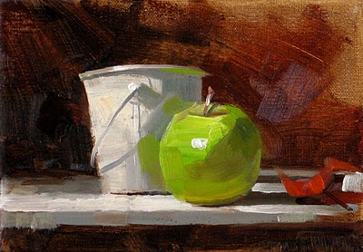 """Green Center"" original fine art by Qiang Huang"