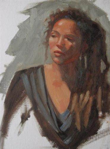 """Liz 9x12 oil"" original fine art by Claudia Hammer"