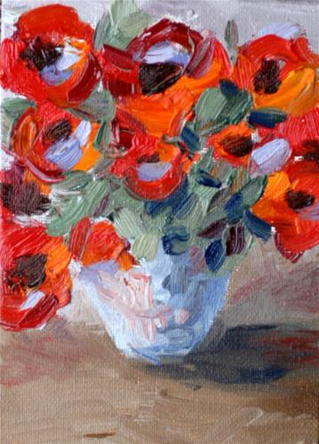"""Poppies in a Jar"" original fine art by Kristen Dukat"