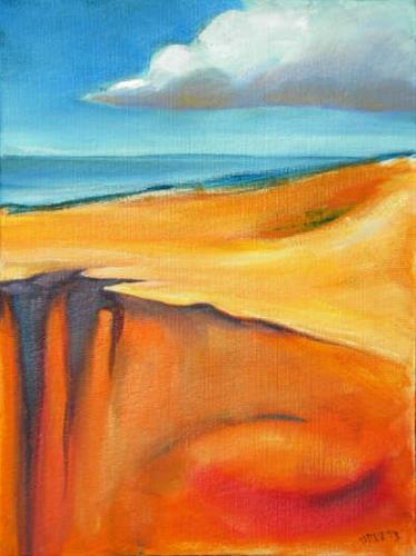 """Oregon Dunes 4"" original fine art by Pam Van Londen"