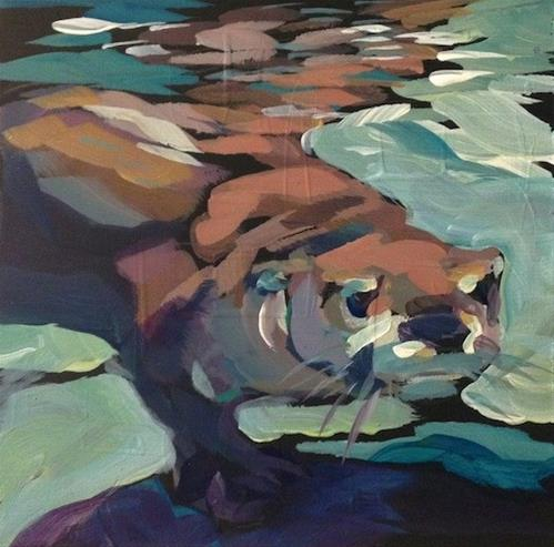 """Step Softly"" original fine art by Kat Corrigan"