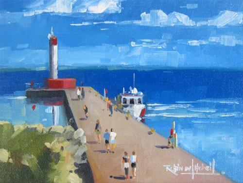 """No 824 Oakville Harbour"" original fine art by Robin J Mitchell"