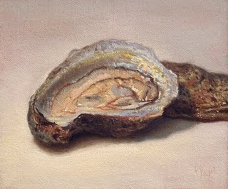"""Oyster No. 3"" original fine art by Abbey Ryan"