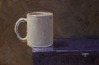 """White Mug"" original fine art by Raymond Logan"
