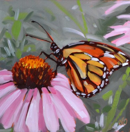 """Garden's Butterfly"" original fine art by Jessica Green"