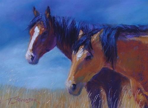 """Horse Siesta"" original fine art by Trish Stevenson"