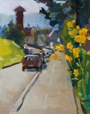 """""""Die Strasse"""" original fine art by Carol Marine"""