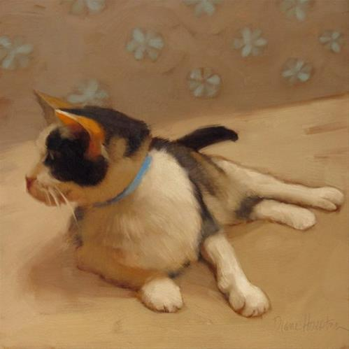 """Sweetie Pie a Calico at the Cleveland Animal Protective League"" original fine art by Diane Hoeptner"