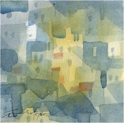 """paisaje 76"" original fine art by Emilio López"