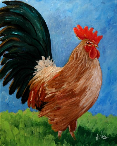 """""""Chester, an original painting by contemporary artist Sunny Williams"""" original fine art by Sunny Williams"""