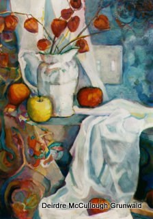 """Audrey's Pitcher"" original fine art by Deirdre McCullough Grunwald"